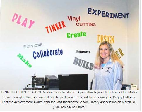 LHS Media Specialist to receive lifetime achievement award